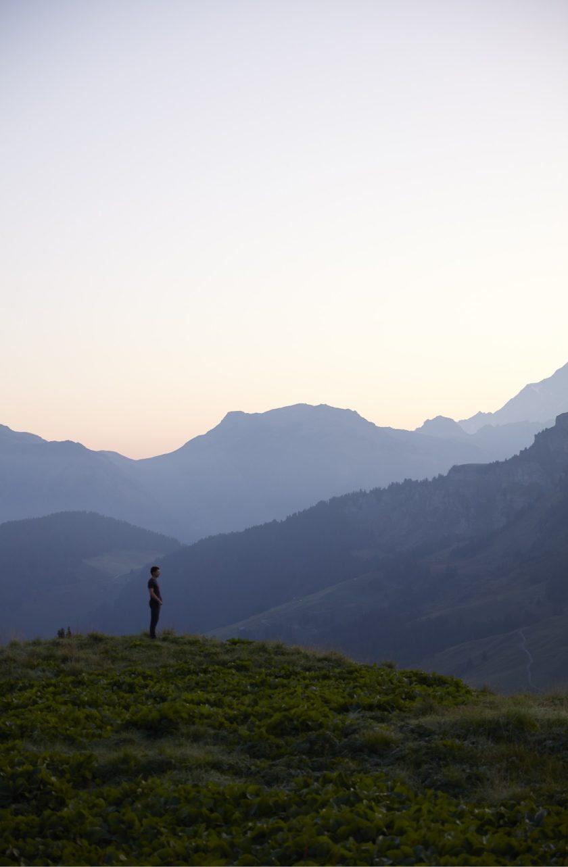 Jean Sulpice en montagne face à la nature