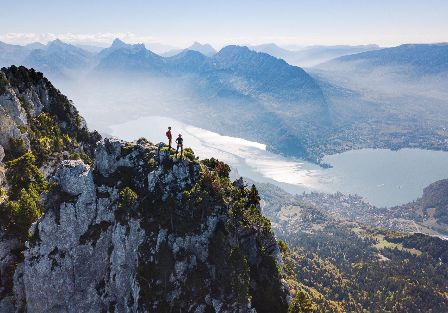 Vue du lac D'Annecy depuis les Dents de Lanfon